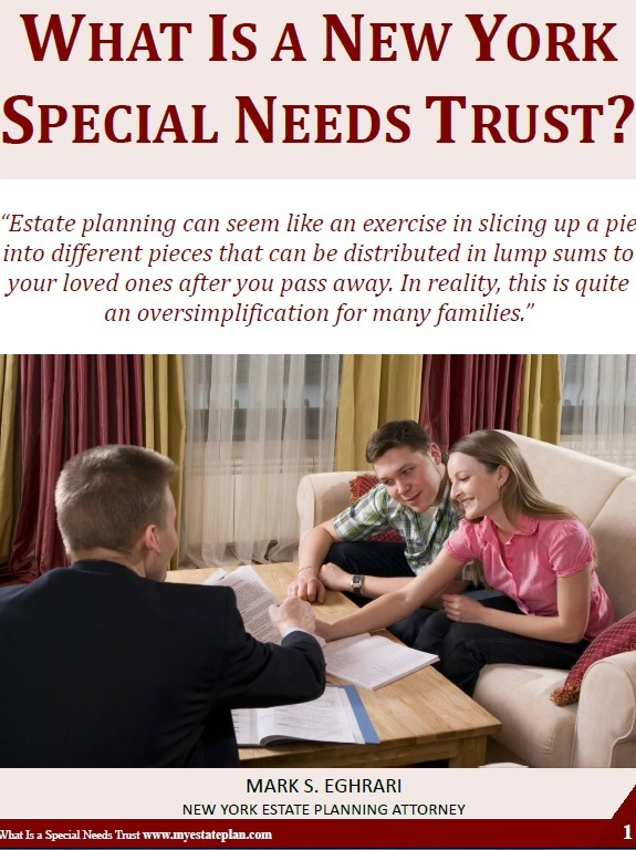 Estate planning can seem like an exercise in slicing up a pie into different pieces that can be distributed in lump sums to your loved ones after you pass away. In reality, this is quite an oversimplification for many families. Learn more about New York special needs trust in this presentation.